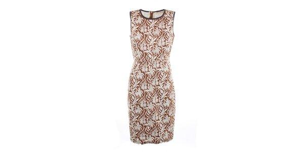 Dámské hnědé šaty s potiskem Nougat London