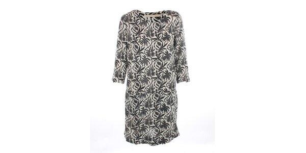 Dámské volné šaty s černým potiskem Nougat London