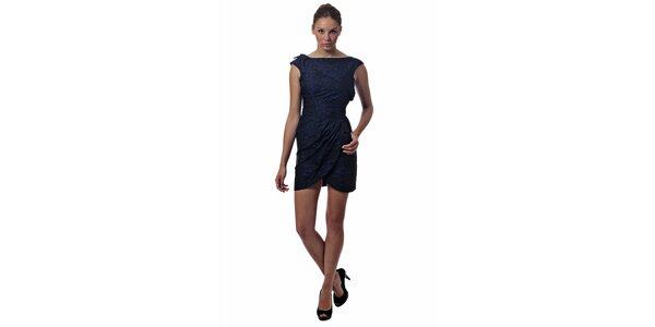 Dámské tmavě modré mini šaty Miss Sixty se zvířecím potiskem