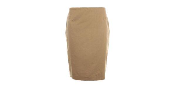 Dámská béžová pouzdrová sukně Nougat London