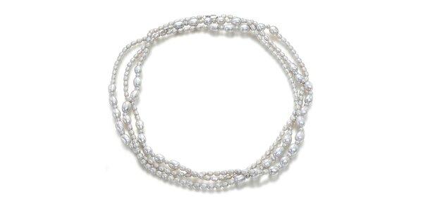 Dámský trojřadý perlový náhrdelník Orchira