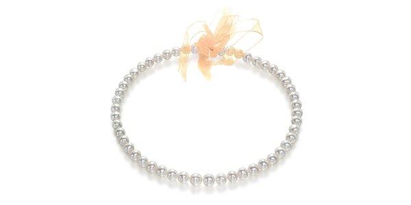 Perlový náhrdelník Orchira s mašlí
