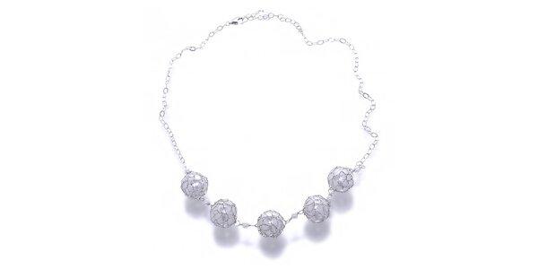 Dámský bílý perlový náhrdelník Orchira