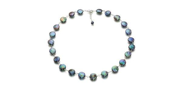 Dámský fialovo-zelený perlový náhrdelník Orchira