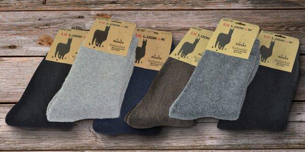 Pánské teplé ponožky Alpaka: balení po 3 párech