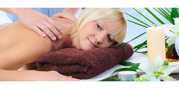 60minutová aroma masáž pro dokonalé uvolnění