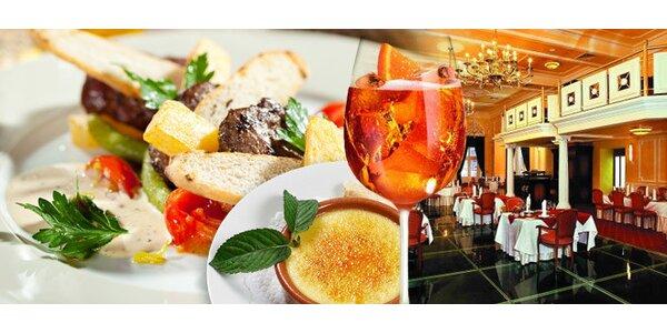 Luxusní menu včetně aperitivu a crème brûlée