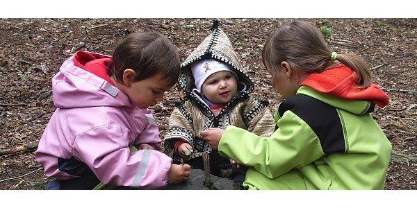 Měsíční docházka do lesní mateřské školky Perníček v Pardubicích
