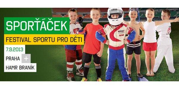 Vstupné na festival sportu pro děti - Sporťáček