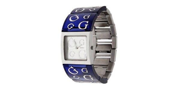 Dámské tmavě modré náramkové hodinky Guess