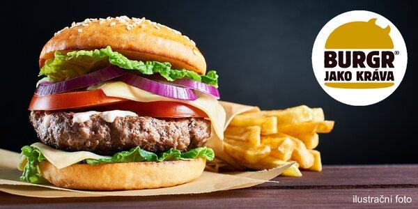 Burger, hranolky a tatarka na rozvoz až domů