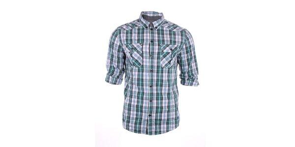 Pánská modro-zelená kostkovaná košile Exe Jeans