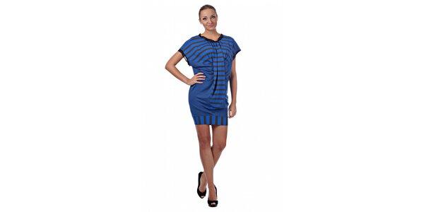 Dámské modré proužkované šaty Killah
