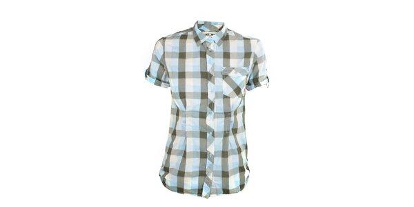 Dámská modro-šedá kostkovaná košile Exe Jeans