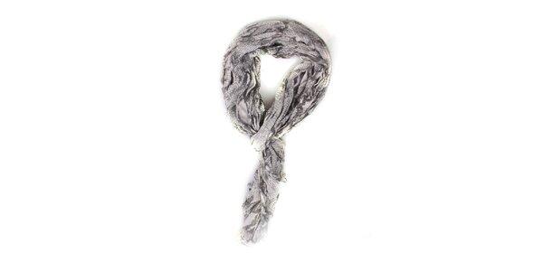 Dámský šedo-bílý šátek Exe Jeans