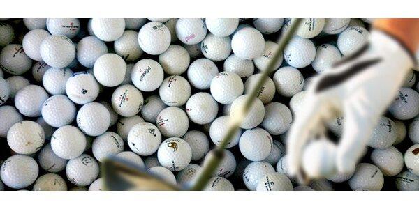 100 nebo 200 hraných míčků na golf