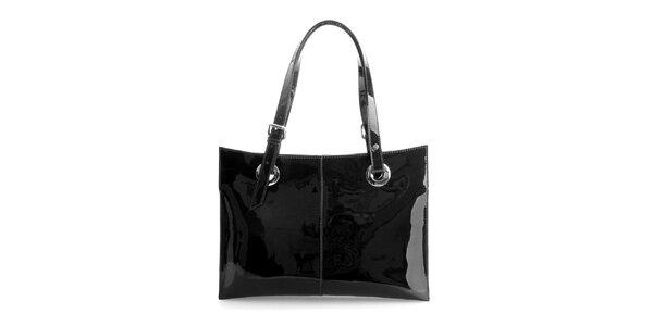 Dámská černá lakovaná kabelka Belle&Bloom