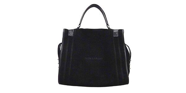 Dámská černá kožená kabelka Belle&Bloom
