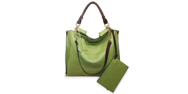 Dámská pastelově zelená kožená kabelka Belle&Bloom