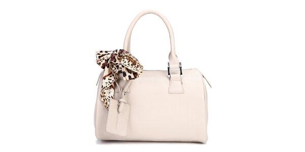 Bílá kufřiková kabelka Belle & Bloom s ozdobným šátkem