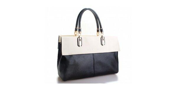 Dámská černá kabelka Belle & Bloom s bílým lemem