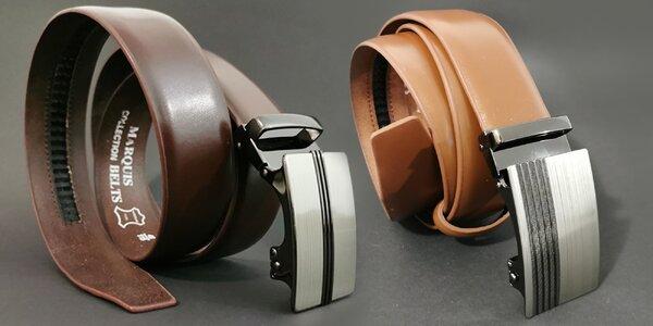 Pánské kožené opasky s automatickou přezkou
