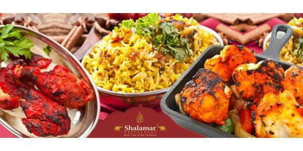 Orientální menu pro dva v restaurantu Shalamar