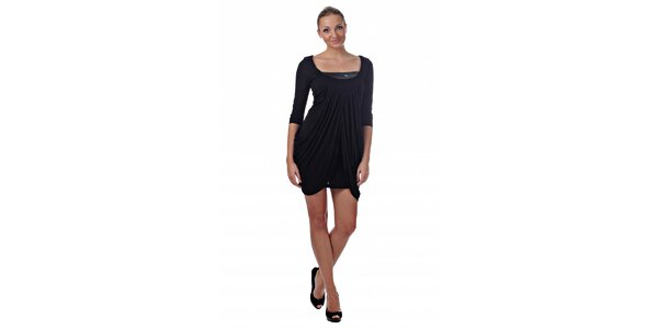 Dámské černé dvouvrstvé šaty Killah