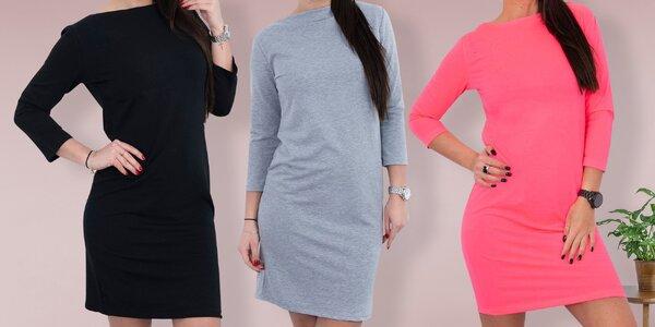 Bavlněné šaty nad kolena, výběr z mnoha barev