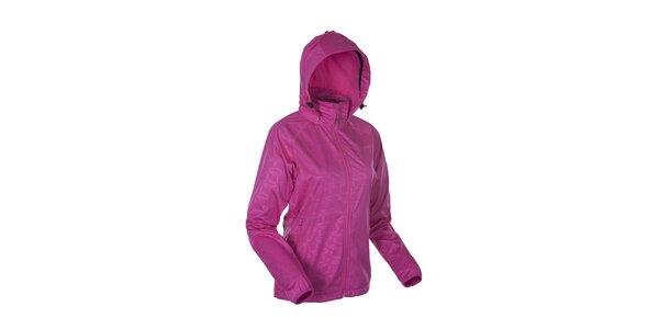 Dámská růžová softshellová bunda se vzorem Envy
