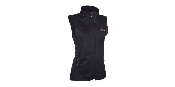 Dámská softshellová černá vesta se vzorem Envy