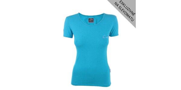 Dámské modré tričko s krátkým rukávem Envy