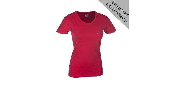 Dámské červené tričko s krátkým rukávem Envy