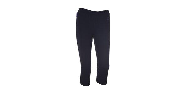 Dámské černé elastické 3/4 kalhoty Envy