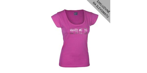 Dámské růžové tričko s potiskem Envy
