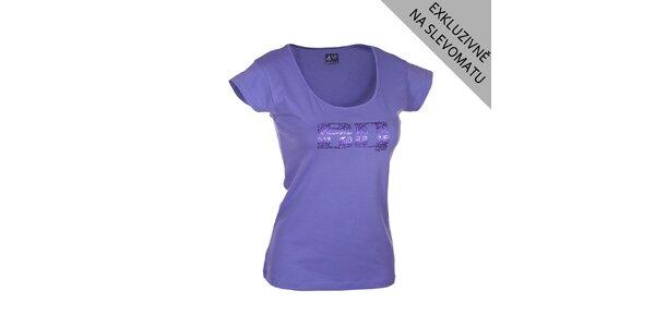 Dámské fialové tričko s potiskem Envy