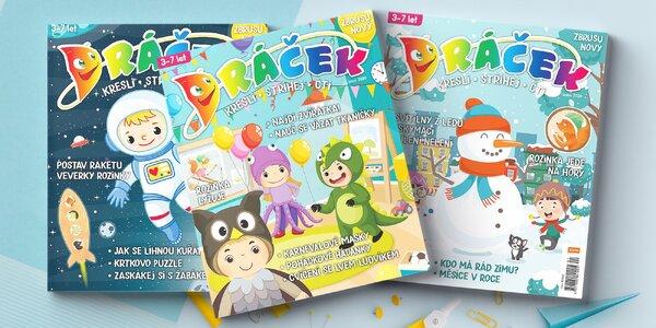 Předplatné dětského časopisu Dráček a Vymalovánky