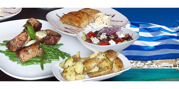 Pravé řecké tříchodové menu pro dva
