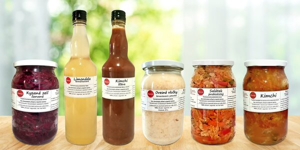 Fermentovaná zelenina, ovesné vločky i limonáda