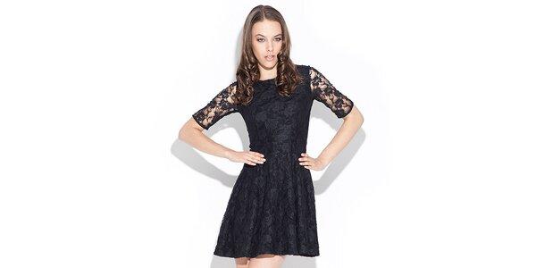 Dámské černé krajkové šaty Katrus