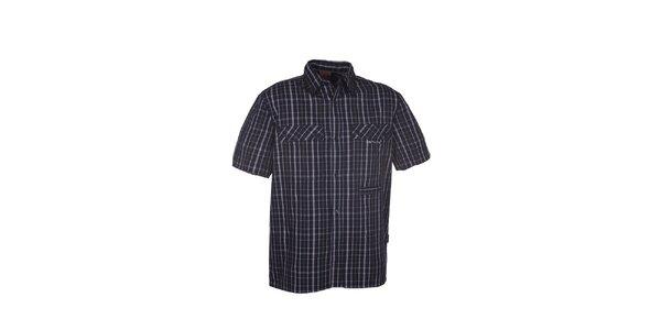 Pánská černá kostkovaná košile Envy