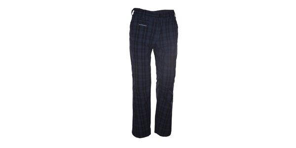 Pánské tmavě šedé kostkované kalhoty Envy