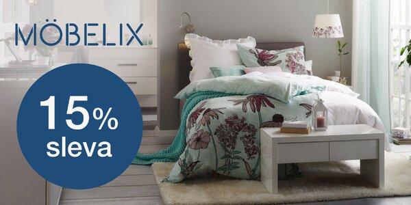 Möbelix: 15% sleva do online obchodu s nábytkem