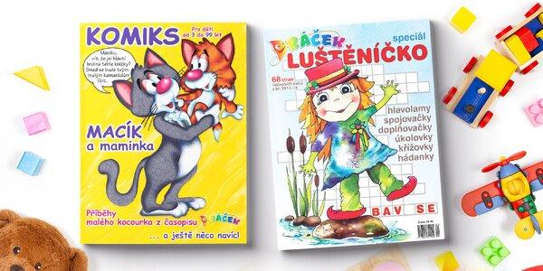 Komiks Macík a maminka a časopis Luštěníčko