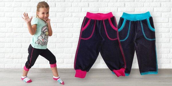 Dětské kraťasy Gudo: 3/4 střih i pumpky