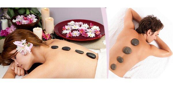 """60minutová celková masáž lávovými kameny """"Magic hot stones"""" s bylinnými oleji…"""