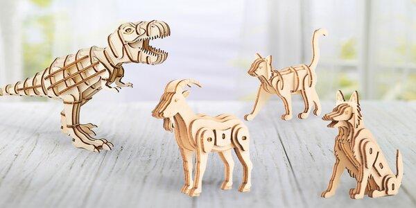 Skládací dřevěné 3D puzzle