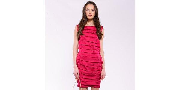 Dámské fuchsiové šaty se sklady Almatrichi