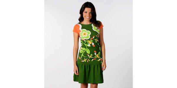 Dámské zelené šaty Avispada