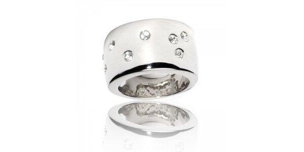 Dámský stříbrný prsten Bague a Dames s malými krystaly